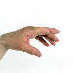 Oval 8 vingerspalk om het pip of dip gewricht te beschermen