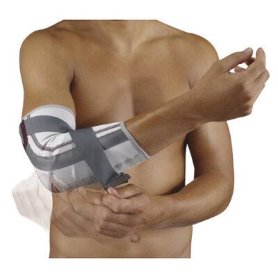 De Push med Elleboogbrace biedt een traploos instelbare extensie beperking voor het elleboog gewricht.
